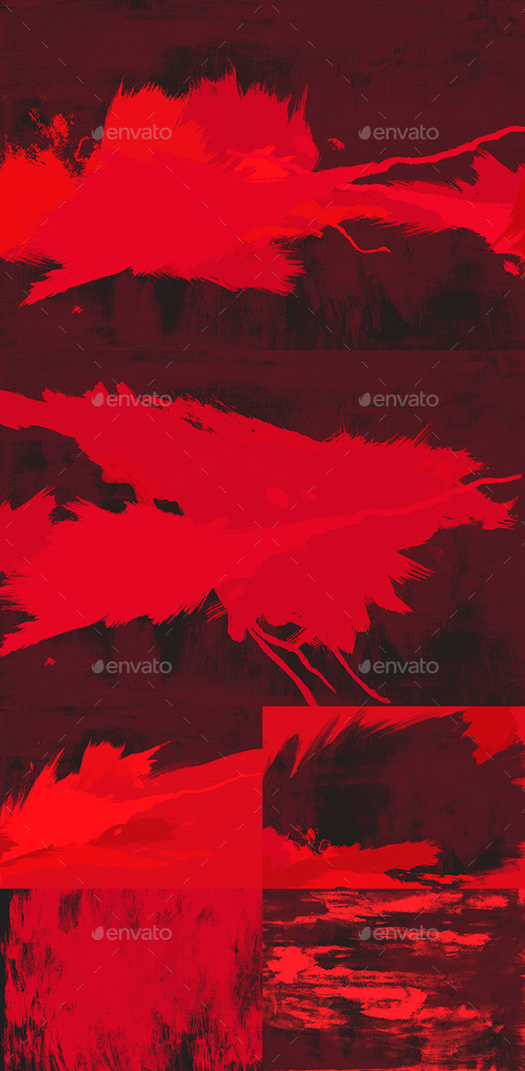 GraphicRiver 6 Red Paint Backgrounds 9684685