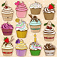 Set of Cupcake Icons - GraphicRiver Item for Sale