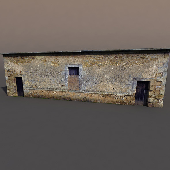 3DOcean Derelict house low poly 9751163