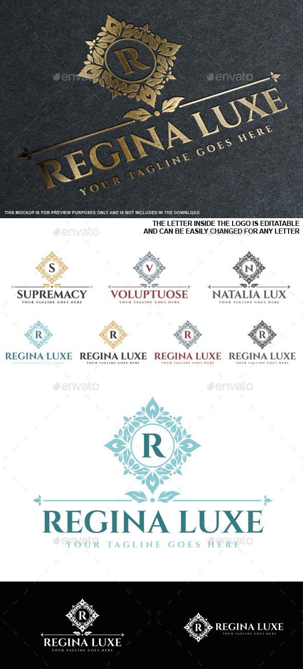GraphicRiver Regina Luxe Logo Template 9751225