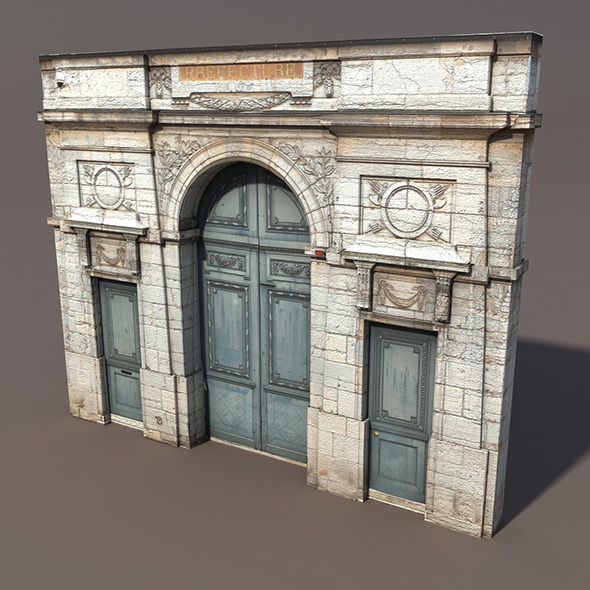3DOcean Door Portal Low poly 3D Model 9751588