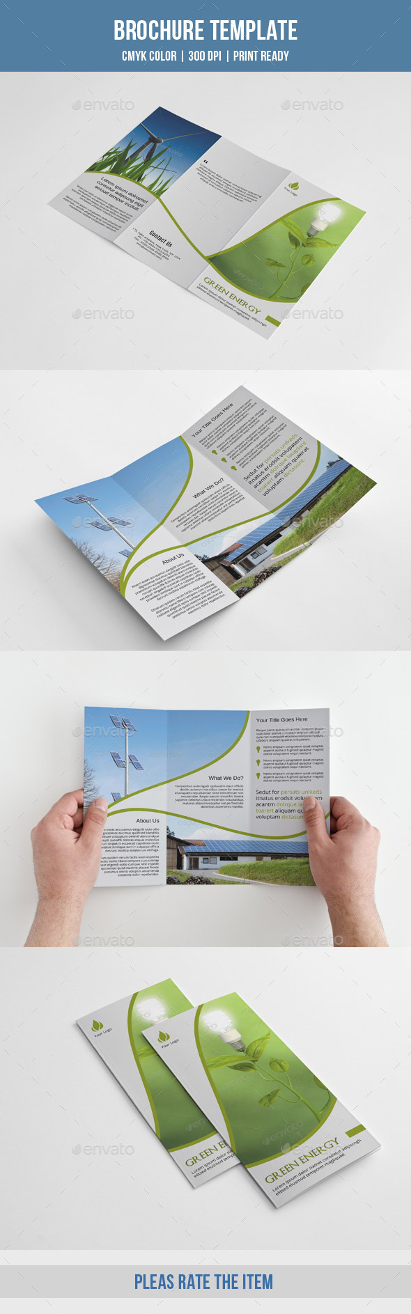 Green Energy Trifold-V199