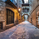 Barri Gothic Quarter and Bridge of Sighs in Barcelona, Catalonia - PhotoDune Item for Sale