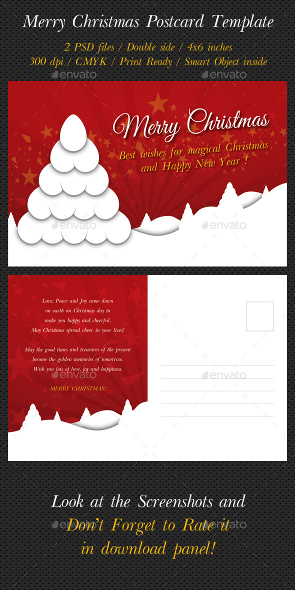 GraphicRiver Merry Christmas Postcard Template V03 9751704