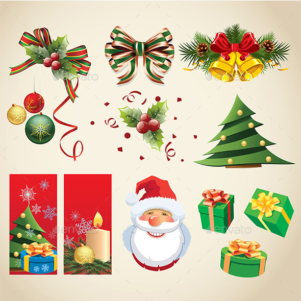 GraphicRiver Christmas Themed Items Collection 9752096
