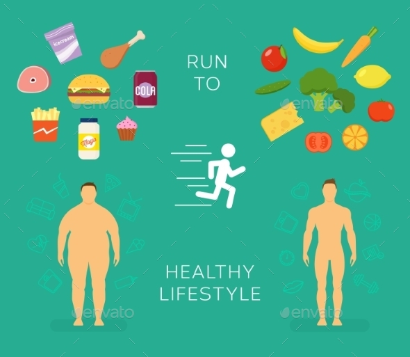 Running to Healthy Lifestyle Flat Card