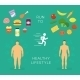 Running to Healthy Lifestyle Flat Card - GraphicRiver Item for Sale