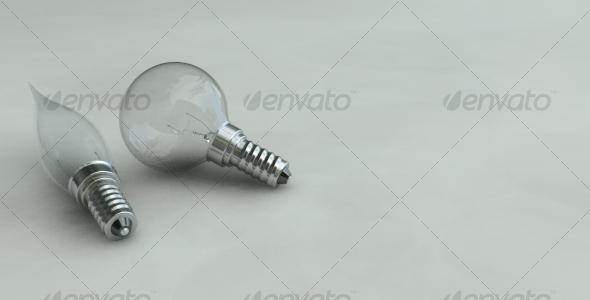 Photorealistic Light Bulbs - 3DOcean Item for Sale