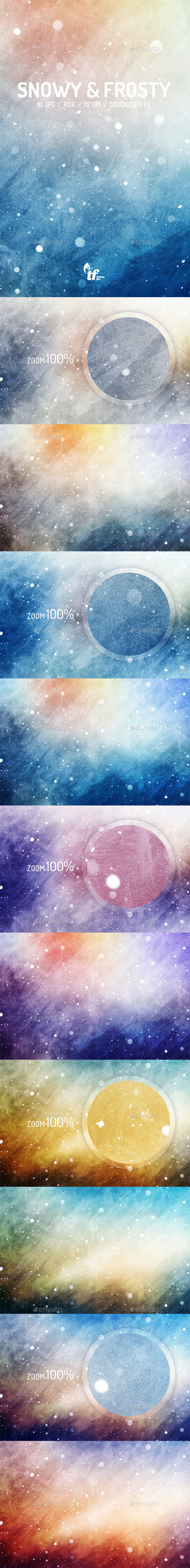 GraphicRiver Snowy and Frosty Backgrounds 9752330