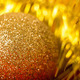 golden ball and tinsel. macro - PhotoDune Item for Sale