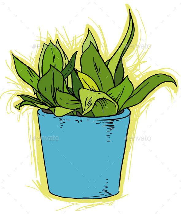 GraphicRiver Flower in a Pot 9752348