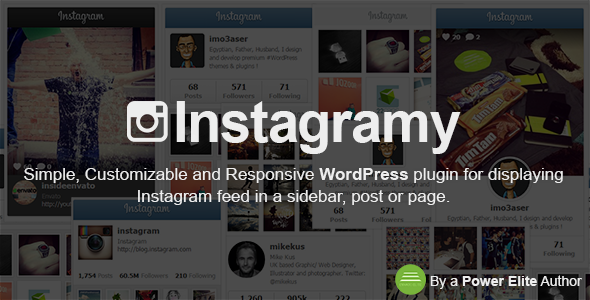 PLUGIN FEATURES Fully Responsive RTL Support Add Instagram Feed to any Sidebar via Instagramy Widget. Add Instagram Feed to any Post or page via Instagramy Sho