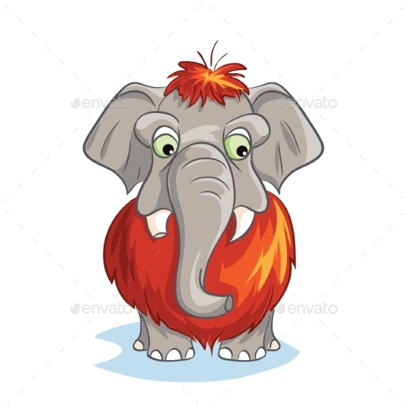 GraphicRiver Cartoon Image of a Baby Mammoth 9752670