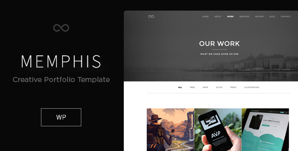 ThemeForest Memphis Minimal Creative WordPress Theme 9600221