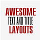 Awesome Text Layouts - VideoHive Item for Sale
