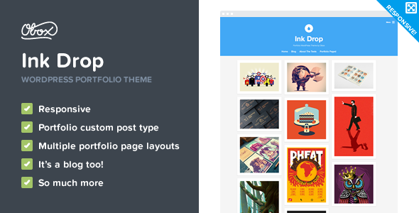 ThemeForest Ink Drop Responsive WordPress Portfolio Theme 9711395
