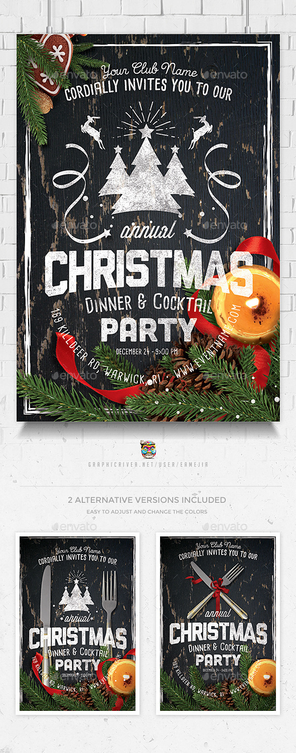 GraphicRiver Christmas Celebration Flyer Template 9752993