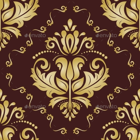 GraphicRiver Floral Vector Pattern Orient Abstract Background 9753238