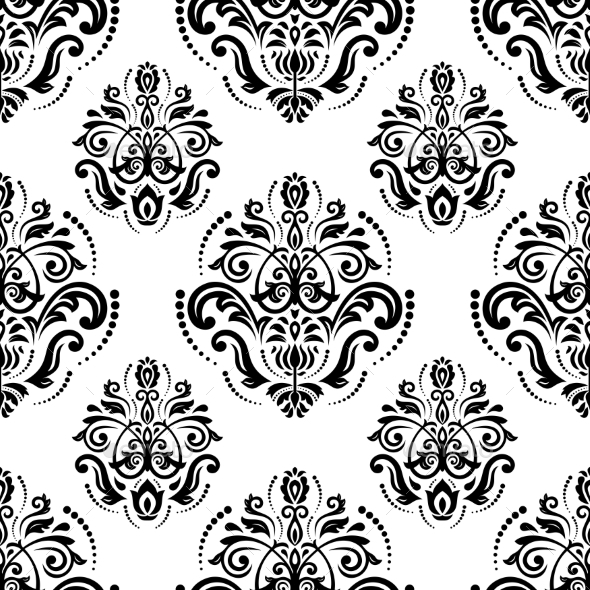 GraphicRiver Damask Seamless Vector Pattern Orient Background 9753462