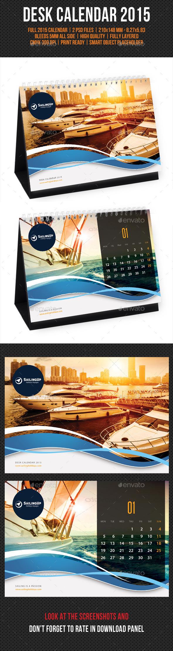 Creative Desk Calendar 2015 V08