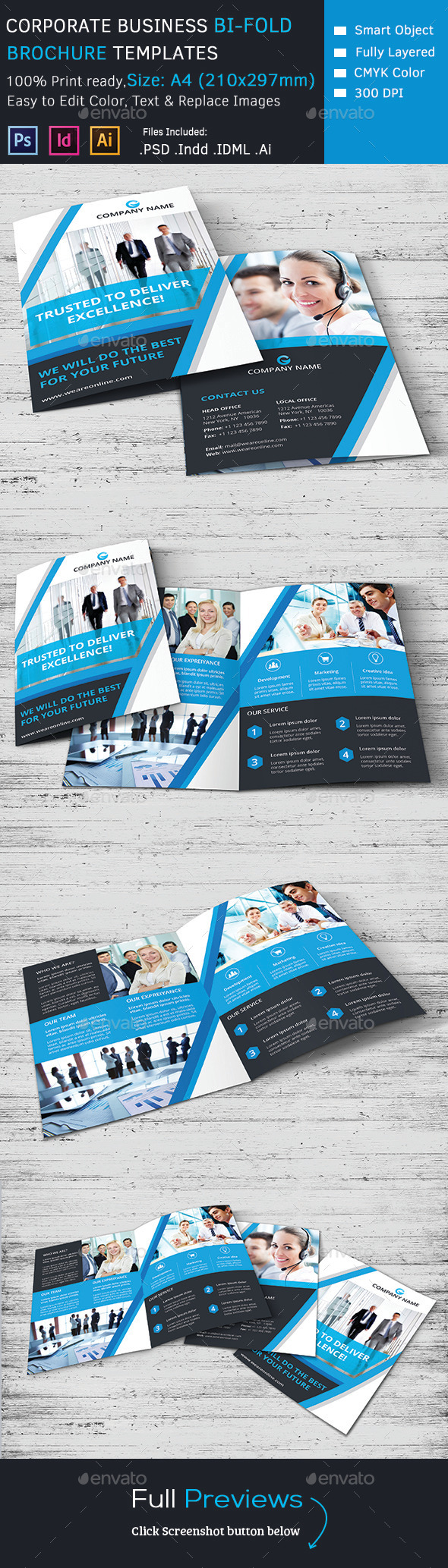 GraphicRiver Corporate Marketing Bi-Fold Brochure 9753608