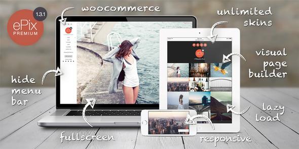 ePix - Fullscreen Photography WordPress Theme - Photography Creative