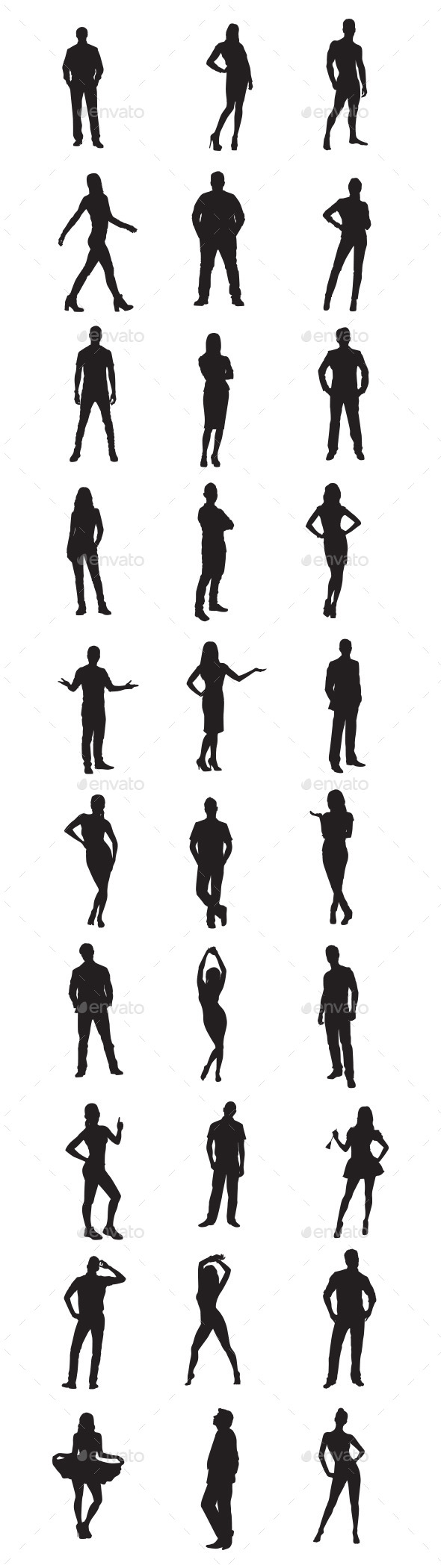 GraphicRiver People Silhouettes 9753783