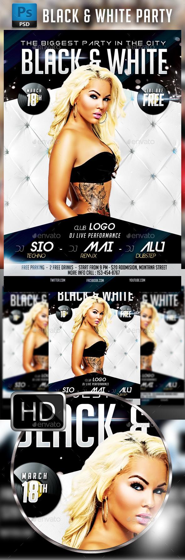 GraphicRiver Black & White Party 9754367