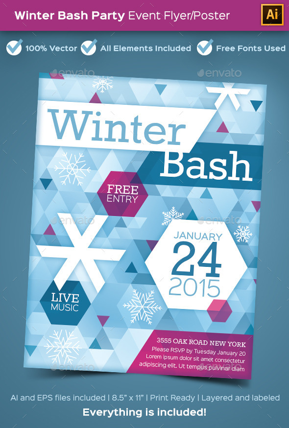 GraphicRiver Winter Bash Party Poster or Flyer 9703119