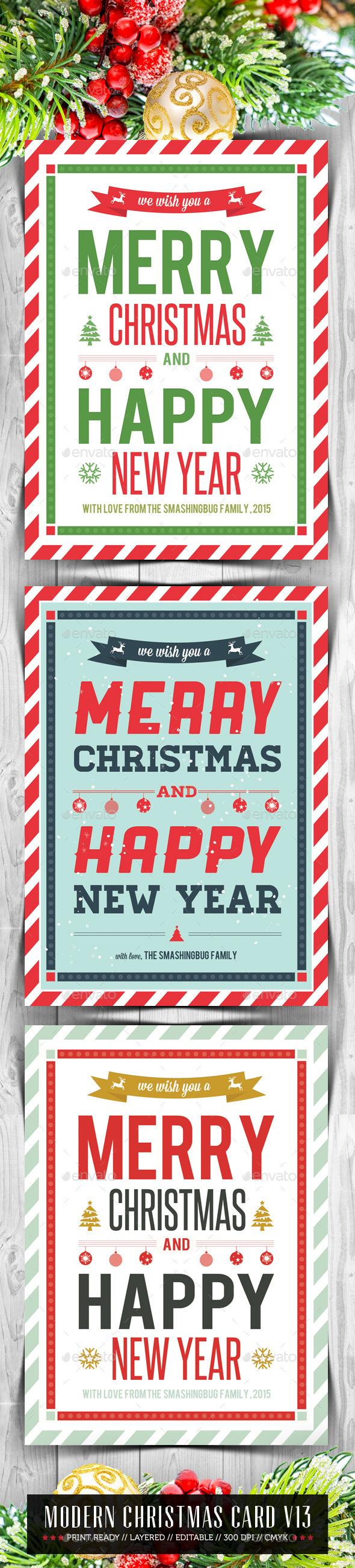 GraphicRiver Modern Christmas Card V13 9754434