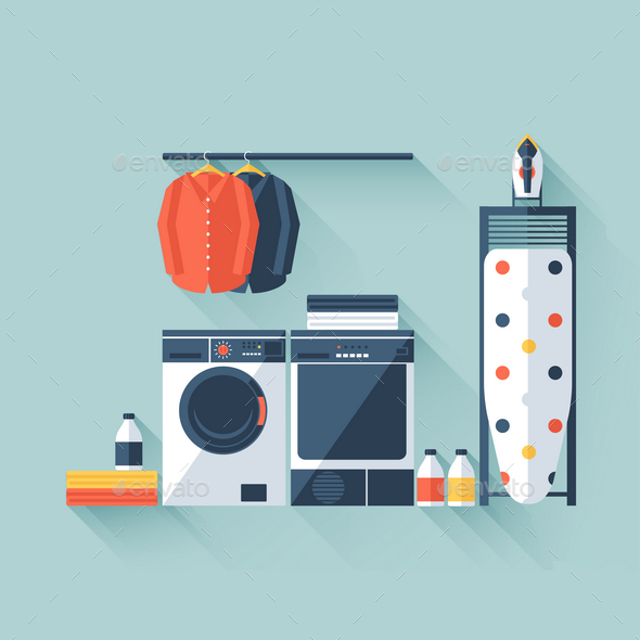 GraphicRiver Laundry Room 9714929