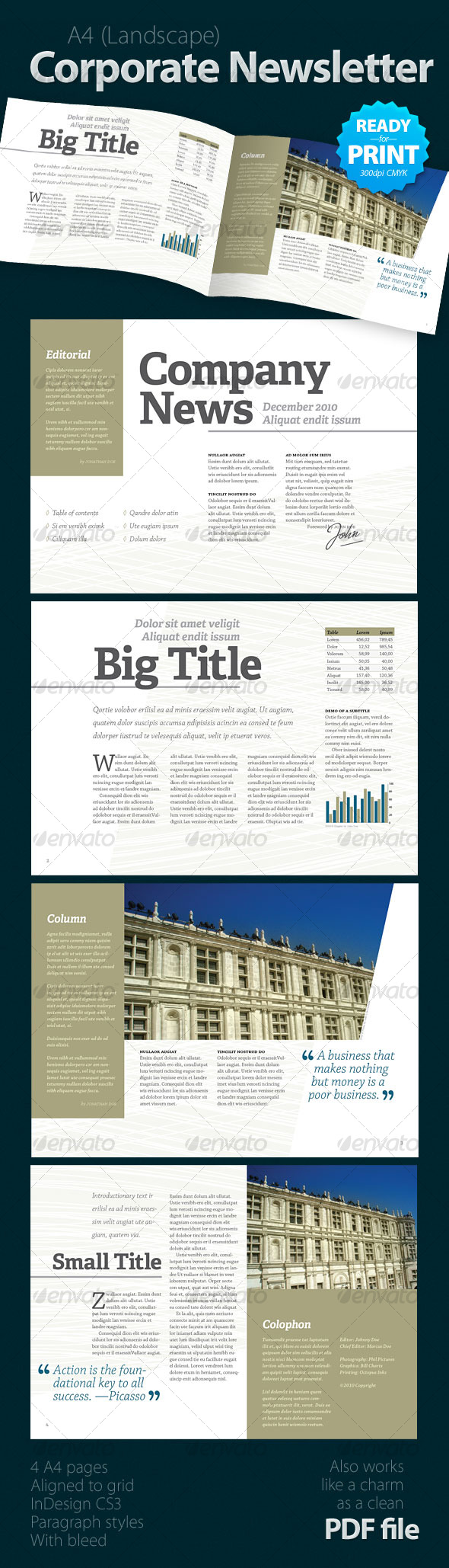 GraphicRiver Corporate Newsletter 4 pages 124051