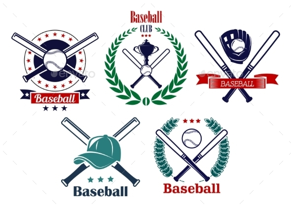 GraphicRiver Baseball Sporting Heraldic Emblems 9754514
