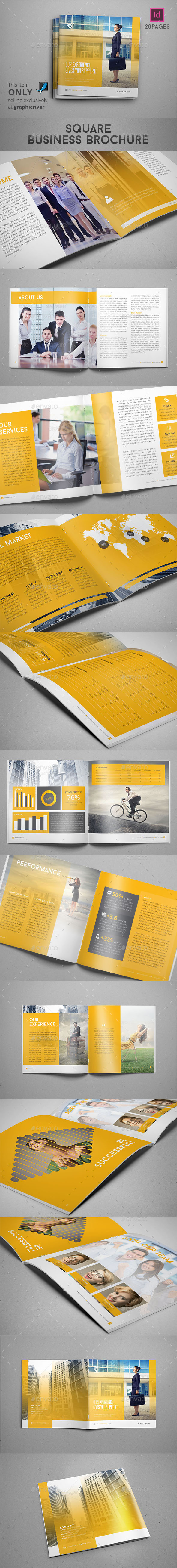 GraphicRiver Square Business Brochure 9754518
