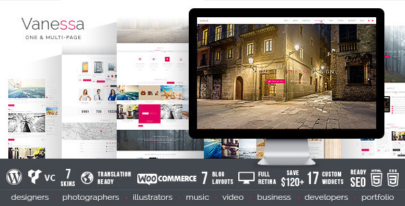 Vanessa - Responsive Multi-Purpose Wordpress Theme