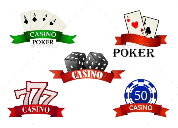 GraphicRiver Casino and Gambling Emblems 9755060