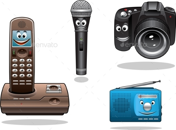GraphicRiver Gadgets and Devices in Cartoon Style 9755067