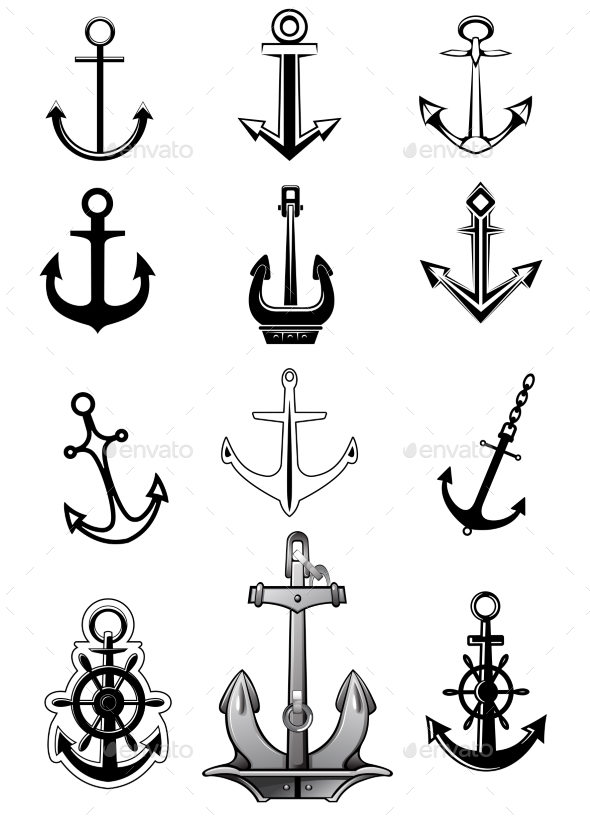 GraphicRiver Anchor Icons 9755069