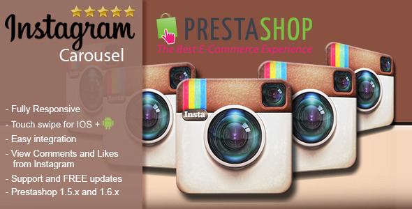 CodeCanyon Responsive Instagram Carousel for Prestashop 9755142