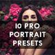 10 Portrait Photography Lightroom Presets - GraphicRiver Item for Sale