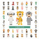 Set of 40 Animal Costume Characters - GraphicRiver Item for Sale