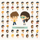 Set of 50 Young People with Hipster Fashion Style  - GraphicRiver Item for Sale