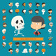 Set of 36 Halloween Costume Characters - GraphicRiver Item for Sale