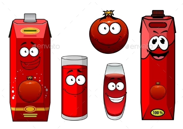 GraphicRiver Pomegranate Juice and Fruit 9755264