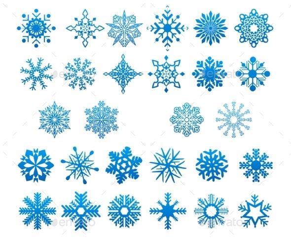 GraphicRiver Snowflakes Set 9755273