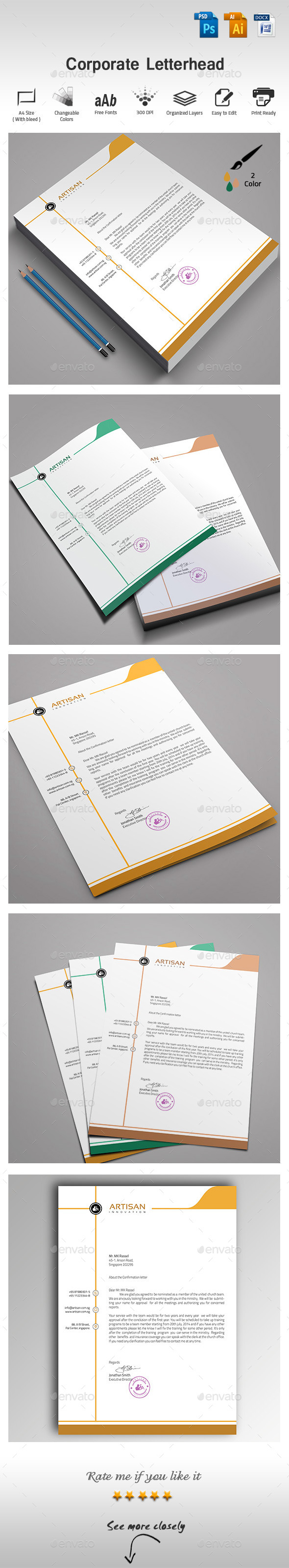 GraphicRiver Corporate Letterhead 9755287