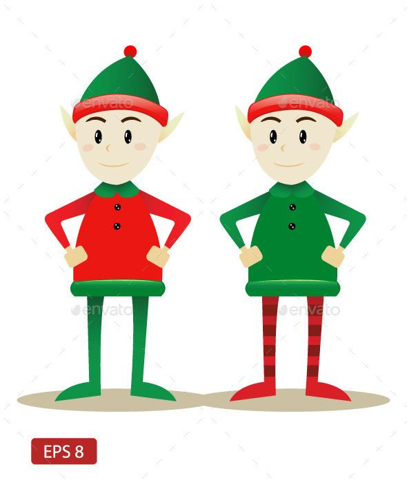 GraphicRiver Santa s Elfs 9755355