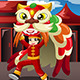 Boy Doing a Lion Dance - GraphicRiver Item for Sale