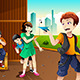 Kids Playing Paper Plane - GraphicRiver Item for Sale