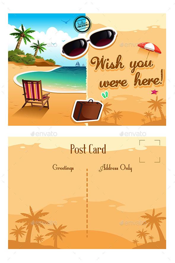 GraphicRiver Travel Postcard 9755393